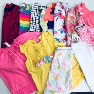 Girls size 3t Lot of 12 pieces dresses tops floral